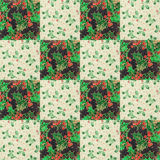 Festive christmas quilt design Royalty Free Stock Photo