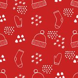 Festive Christmas seamless pattern. Vector background for design and decoration. Of textiles, covers, packaging and wrapping paper Stock Photography