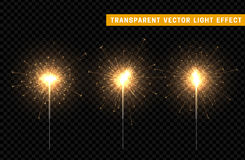 Festive Christmas sparkler decoration lighting element. Sparkler vector firework. Magic light  effect. For the background of the holiday and birthday Royalty Free Stock Photo