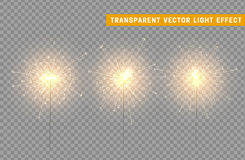 Festive Christmas sparkler decoration lighting element. Sparkler vector firework. Magic light  effect. For the background of the holiday and birthday Stock Photo
