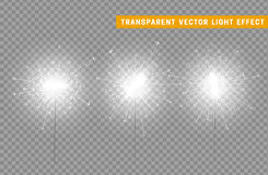 Festive Christmas sparkler decoration lighting element. Sparkler vector firework. Magic light isolated effect. For the background of the holiday and birthday Royalty Free Stock Photography
