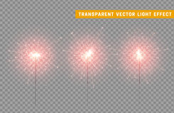Festive Christmas sparkler decoration lighting element. Royalty Free Stock Photography