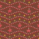 Festive Christmas Star Ornaments stock illustration