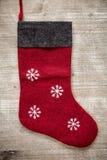 Festive christmas stocking. Royalty Free Stock Photos