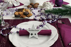 Festive Christmas table Stock Photos
