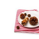 Festive christmas table arrangement Royalty Free Stock Photo