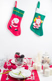 Festive Christmas table Royalty Free Stock Photos