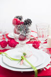 Festive Christmas table Stock Image