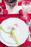 Festive Christmas table Stock Photography
