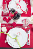 Festive Christmas table Royalty Free Stock Photography
