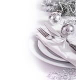 Festive christmas table set Stock Photography