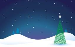 Festive christmas tree Stock Photo
