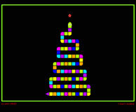 Festive christmas tree as snake game Royalty Free Stock Image