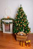 Festive Christmas tree Royalty Free Stock Photos