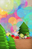 Festive Christmas tree design Royalty Free Stock Images
