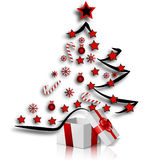 Festive Christmas tree and gifts. Vector art illustration for Christmas and New Year Royalty Free Stock Image