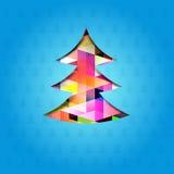 A festive christmas tree. Vector illustration Stock Photos