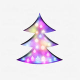 A festive christmas tree. Vector illustration Royalty Free Stock Images