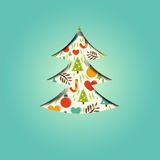 A festive christmas tree stock photography