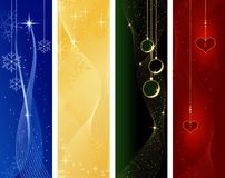 Festive Christmas, winter banners royalty free illustration