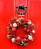 Festive Christmas wreath Stock Photos