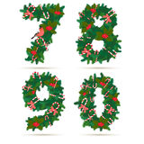Festive christmas wreath figures 2015. Flat style. Stock Images