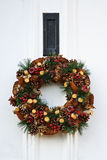 Festive Christmas wreath Stock Images