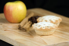 Festive cinnamon and apple pies Royalty Free Stock Photos