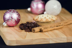 Festive cinnamon and apple pies Royalty Free Stock Images