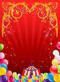 Festive circus background Stock Photos