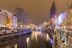 Festive city river. Royalty Free Stock Photos