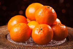 Festive Clementines Stock Images