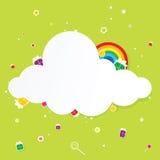 Festive cloud with rainbow Stock Photography