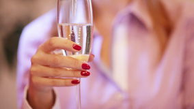 Festive cocktail party. Guests with glasses of champagne. Two scenes stock footage