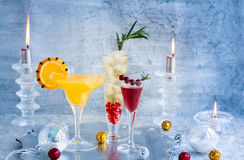 Festive cocktails Royalty Free Stock Photos