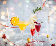 Festive cocktails Royalty Free Stock Images