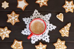 Festive coffee break Royalty Free Stock Image