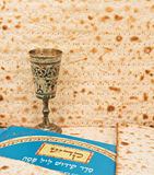Festive collage with west wall of Jerusalem and Passover Matzoth as background Royalty Free Stock Images