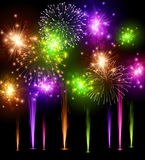 Festive color firework background Royalty Free Stock Image