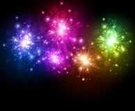 Festive color firework background Royalty Free Stock Photos