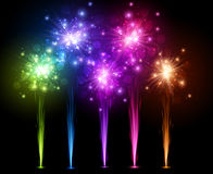 Festive color firework background. Stock Image