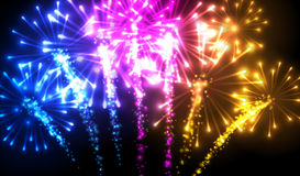 Festive color firework background. Vector illustration Royalty Free Stock Images
