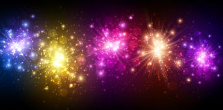 Festive color firework background Royalty Free Stock Images
