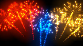 Festive color firework background. Vector illustration Royalty Free Stock Photography
