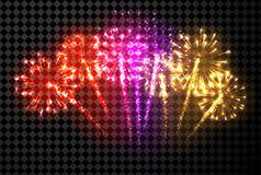 Festive color firework background. Vector illustration Royalty Free Stock Photos