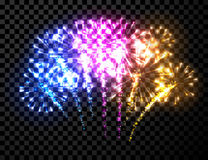 Festive color firework background. Royalty Free Stock Photography