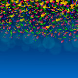 Festive color pieces of paper Royalty Free Stock Photography