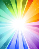 Festive color rays. Festive rays with many stars. Vector illustration Royalty Free Stock Image