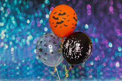 Festive colored balloons royalty free stock images