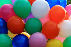 Festive colored balloons Royalty Free Stock Photos